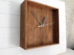 his wooden clock would be a great decoration for your home or office. The natural wood color will give you comfort and warmth, plus you will always be in-time. The movement of the hands is silent (no ticking noise), which makes it perfect even for your bedroom or anywhere you need silence. I make these clocks to order, so if you have any personal preferences just send me a message. You can choose between two types of hands and two types of wood colors, just let me know what fits you best…