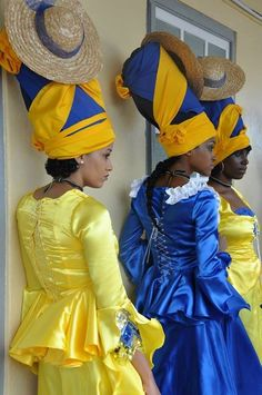 Barbados Carribean Barbados women in traditional dress