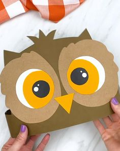 Halloween Crafts For Toddlers, Animal Crafts For Kids, Toddler Crafts, Preschool Crafts, Easy Crafts For Kids, Handmade Christmas Decorations, Christmas Crafts For Kids, Owl Crafts, Paper Crafts