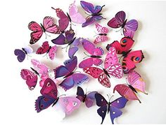 3D Three-Dimensional Wall Stickers Butterfly Fridge Magnet Wedding ...