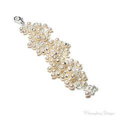 Cream Wedding Swarovski Pearl Cluster by whimsydaisydesigns, $40.00