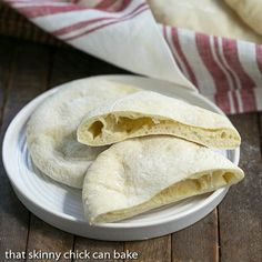 Our meal today is focused on Middle Eastern fare, and I've baked up some Homemade Pita Bread for the table.