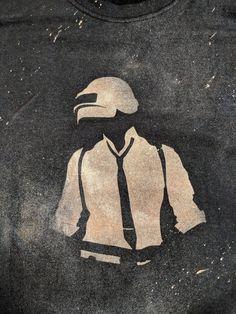PlayerUnknown's Battlegrounds PUBG Inspired Handmade Bleach Shirt