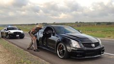 Hennessey-tuned Cadillac hits 220 mph on Texas highway.  Why would anyone do that? Texans know.