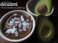 4 Ingredient Chocolate Pudding (RAW, PALEO, GAPS)  #ThePrimitiveHomemaker