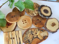 Wooden Buttons. I love these!!
