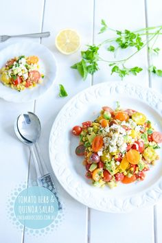 Tomato & Herb Quinoa Salad - One Handed Cooks
