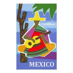 Vintage Travel Poster, Mexico      #travel   #poster  #folk