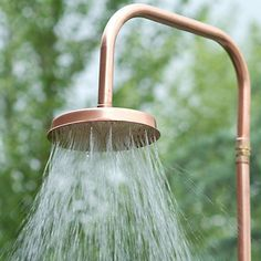 Copper Outdoor Shower for an outdoor bath