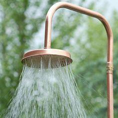 copper outdoor shower.