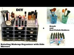 Using a simple dollar store cookie tray, make this DIY magnetic makeup organizer to keep all of your beauty essentials organized. Diy Makeup Organizer, Makeup Brush Storage, Make Up Organiser, Makeup Brush Holders, Diy Storage, Organization Ideas, Storage Organizers, Storage Ideas, Organizers