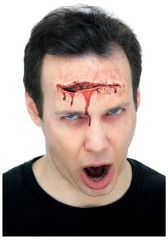 OFF or FREE SHIP -Lg Gash : Latex Hollywood Prosthetic easily attach to your skin with spirit gum or latex (not included) for a professional movie look. Zombie Makeup, Scary Makeup, Sfx Makeup, Face Makeup, Makeup Brushes, Zombie Gifts, Popular Costumes, Scary Costumes, Halloween Costumes