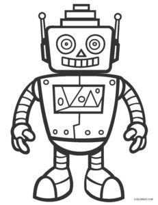 Free Printable Robot Coloring Pages For Kids Cool2bkids School
