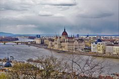 Hungarian Parliament Building on the Banks of the Danube River, Budapest, Hungary, Europe