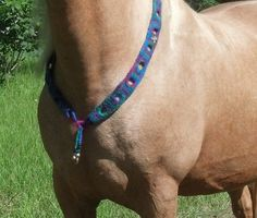Boho-chic Felted Equine Necklace - Rhythm Beads Horse Necklace - Felted Necklace for Horses