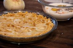 This baked sweet onion pie is a classic southern recipe. Made with Vidalia onions, crackers (Ritz or saltines), eggs, cheese, milk and butter. Delicious savoury pie! Vidalia Onion Pie Recipe, Vidalia Onions, Baked Onions, Pie Recipes, Crackers, Butter Pie, Deep Dish, Dinner Dishes, Southern Recipes