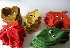 Awesomely cute fall leaves by mypapercrane. #crafts #plush #plushies #toys #cute #fall #leaves