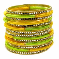 Sienna Stacked Thread Bangle Set http://blossomboxjewelry.com/b1169.html #fashion #jewelry #trends