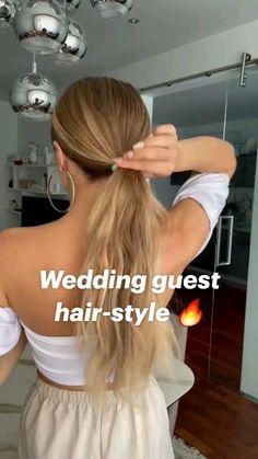 Work Hairstyles, Pretty Hairstyles, Good Hair Day, Great Hair, Hair Upstyles, Wedding Guest Hairstyles, Hair Today, Bridesmaid Hair, Hair Dos