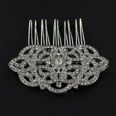 Headpieces - Deco Diamante Comb