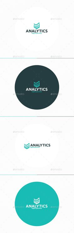 Analytics Logo by shaoleen • Fully Editable Logo • CMYK • AI, EPS, PSD, PNG files • Easy to Change Color and Text