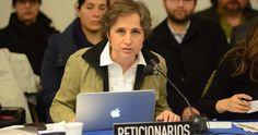 """La periodista mexicana Carmen Aristegui pidió hoy a la CIDH que dé prioridad a su demanda contra el Gobierno mexicano para que pueda debatirse su caso """"como botón de muestra"""" de los mecanismos de censura directa e indirecta en la región."""