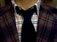Thom Browne Shirt- John Weitz Vintage blazer- Isaia Cashmere tie