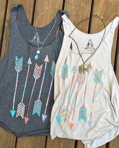 Buy Bestfriends Shirts Women Casual Arrow Head Print Vintage Multicolor Tank Tops Cotton T-shirt Sleeveless Grey/White at Wish - Shopping Made Fun Summer Outfits, Casual Outfits, Cute Outfits, Fashion Outfits, Womens Fashion, Style Fashion, Outdoor Girl, Look Boho, Mein Style