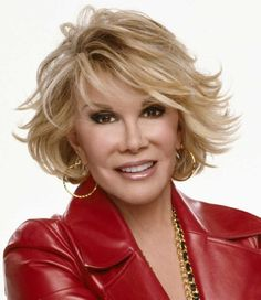 Good for Mother of the Bride. She wears extensions. {Joan Rivers}