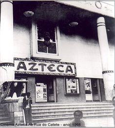 Cinema Azteca na Rua do Catete 1968