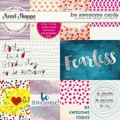 Be Awesome :: Cards by Studio Basic Designs and Vera Lim at Sweet Shoppe Designs
