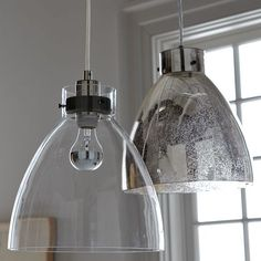 West Elm industrial pendant light in glass. 99. Kitchen island or over kitchen eating table?