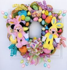 Disney+Easter+Wreath+Mickey+and+Minnie+by+SparkleForYourCastle,+$159.00