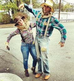 The best part of wearing a scarecrow costume for Halloween? You can make it as cute—or creepy—as you want. This is a creative departure from the denim scarecrow look. Already have a plaid poncho? Throw on a few patches and call it a day.
