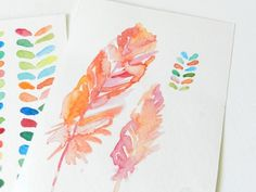 Grow Creative: Colorful Inspired Art/ inspiration/ I love water color paintings!