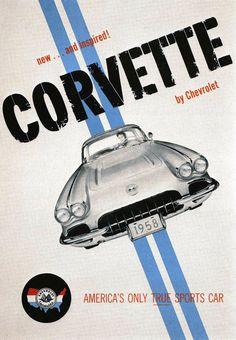 Vintage Corvette Poster