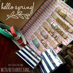 Meet the 2016 Spring KEEP Collective Collection. Order yours today @ www.keep-collective.com/with/bethanylchang. Need design help? Email me @ bethanylchang@gmail.com.  #HelloSpring #HelloBeautiful #SpringisSprung #GirlBoss #WorkingMama #Accessories #SpringBling #Spearmint #Coral