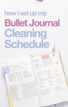 Bullet Journal Cleaning Schedules | wellella