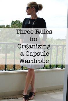 Three Rules Organizing Capsule Wardrobe