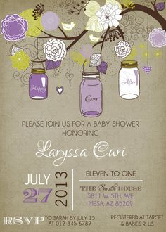 baby shower invitations The Sweet Peach Paperie Little Birdie