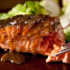 Maple-Mustard Grilled Salmon Recipe