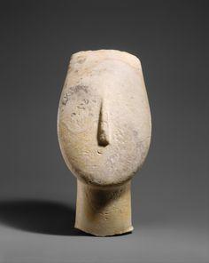 Early Cycladic marble head