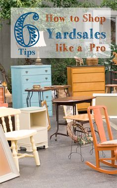 Find out 6 tips on how to shop Yardsales like a pro!