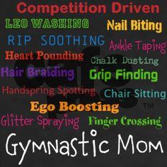 gymnastic mom Shirt on CafePress.com