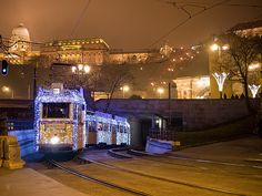Last day of the light tram on line 19 - Budapest, Hungary Budapest Hungary, Christmas Lights, Kiss, Fair Grounds, Europe, In This Moment, Memories, Explore, Lighting