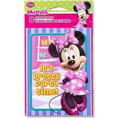 Minnie Mouse Bow-Tique Invite and Thank You Combo, 8 Pack, Party Supplies - Walmart.com