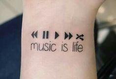 Imagen de music, tattoo, and life Cat Tattoo Designs, Music Tattoo Designs, Music Tattoos, Fake Tattoos, Small Tattoos, Tatoos, Tiny Tattoo, Boxing Tattoos, Flower Tattoo Foot