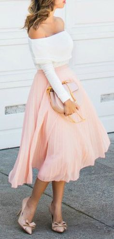 Tulle + of the shoulder.