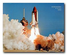 This wall poster display the image of NASA space shuttle blasting off which is sure to grab lot of attention towards it. The space shuttle is an extremely complex structure. This poster shows the launch sequence and the incredible force needed to lift the huge shuttle of the ground and send it through the earth's atmosphere. It goes well with all décor style. Order this poster today for its better quality and perfect color accuracy.