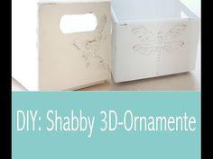 DIY: Günstige & selbst gemachte Strukturpaste (3D-Ornamente auf Holzboxen) - YouTube